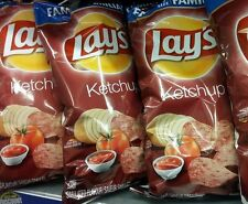 New CANADIAN LAY'S KETCHUP CHIPS FAMILY SIZE BAG 255g