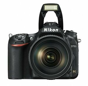 USED Nikon D750 DSLR Camera AF-S NIKKOR 24-120mm f/4G ED VR Lens 4960759144553
