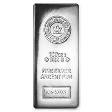 One piece 100 oz 0.999 Fine Silver Bar Royal Canadian Mint-97758 Lot 3437