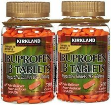 Kirkland Ibuprofen 200 mg IB Tablets, 1000 Caplets, Brand New Sealed. 04/2019