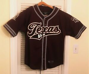 Texas A&M Aggies Baseball Jersey Vintage Rare Colosseum Sport Button Medium M