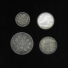 lot of 4 World Silver coins Canada Germany Mexico Netherlands
