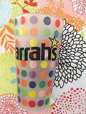 Harrah's Casino Glass with Polka Dots