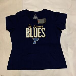 New Women's Original Fanatics NHL St Louis Blues T-shirt Sz 3XL