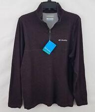 Columbia Men's Rugged Ridge 1/4 Zip Shirt Burgundy S