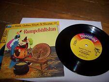 RUMPELSTILTSKIN BOOK & RECORD SET 1976 LITTLE GOLDEN BOOK 33 1/3 RPM #204