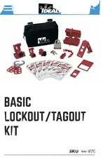 Ideal 44-970 15-Pc Basic Lockout/Tagout Kit with Small Zippered Pouch