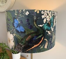 Velvet Modern/Contemporary Unique Peacock Fabric Lampshade - All Sizes