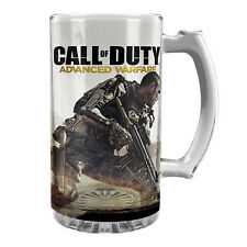 CALL of DUTY GLASS STEIN 500ml Advanced Warfare Beer Man Cave Christmas Gift