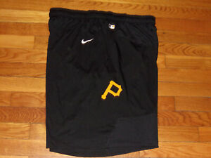NIKE DRI-FIT PITTSBURGH PIRATES BASEBALL ATHLETIC SHORTS MENS 2XL EXCELLENT COND