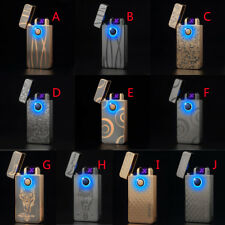 Windproof Usb Electric Rechargeable Lighter Arc Flameless Dual Plasma Torch