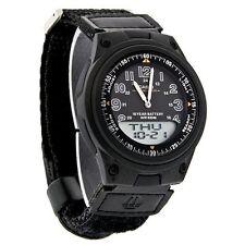 Casio AW-80V Original Black Databank World Time Cloth Band Watch AW-80V-1BV