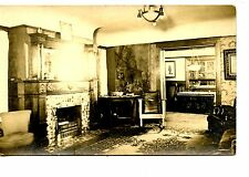 Lovely Home-House Interior-Furniture-Fireplace-RPPC-Vintage Real Photo Postcard