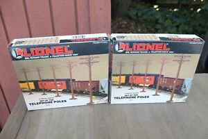 Two Sets of 10 Lionel LTI O Scale Telephone Poles 6-2181 MINT