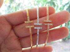 .54 Carat diamond tricolor bangle bracelet 18K sepvergara
