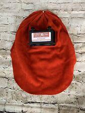 New Honeywell Fibre Metal Red Leather Lift Front Welding Helmet Hood With Vents