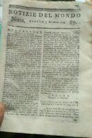 1779  NOTIZIE DEL MONDO GUERRA D'INDIPENDENZA AMERICANA; INDIANI GENERALE BUTLER