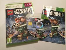 XBOX 360 LEGO GAME STAR WARS III THE CLONE WARS +BOX & INSTRUCTIONS COMPLETE PAL