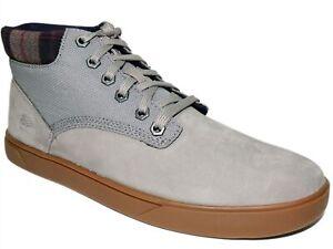 Timberland Men's Groveton Chukka Sneaker Boots Medium Grey Nubuck Size 7.5 M