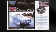 2000 FORD 75th ANNIV COV, 1993 ED FALCON XR8 SPRINT