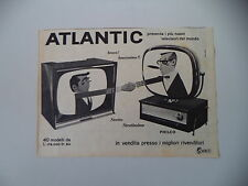 advertising Pubblicità 1958 TELEVISORE ATLANTIC /PHILCO