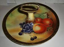 PRINCIPIOS XX siglo pintado a mano & Firmado Fruta Plato De Tarta
