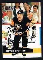 Bryan Trottier #192 signed autograph auto 1991-92 Pro Set Hockey Trading Card