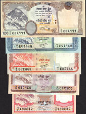 NEPAL 2010 Rs 5 to 500 EVEREST BANKNOTE set w/o date, P#60b-63b,66b sign.19 UNC