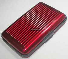 Aluminum Card Guard Holder Wallet Protection Case For Business Credit Cards(Red)