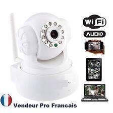 Caméra IP Réseau WIFI Infrarouge Mobile Iphone Ipad Android Mac Couleur Blanc