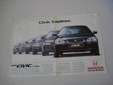 advertising Pubblicità 1996 HONDA CIVIC VTEC