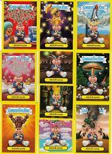 GARBAGE PAIL KIDS FLASHBACK 3 ADAM BOMB YELLOW MANIA COMPLETE SET 10/10 CARDS