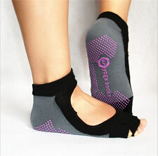 New Sport Socks Half Toe Ankle Grip Yoga Pilates Socks Five Toes No-Slip Cotton