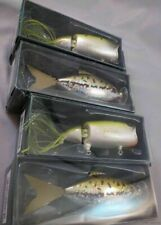 WHOLESALE LOT of 4 FISHING POLE LURES CHUCK WOOLERY NEW moto chug minnow fish