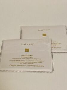 Lot of 2 MARY KAY Beauty Blotters Oil-Absorbing Tissues 75 Count 2 Packages