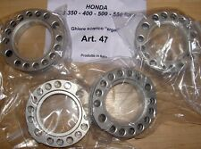 Honda CB350-550 4 cyl Cappellini # 47 set/4 exhaust pipe clamps in special alloy