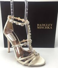 "BADGLEY MISCHKA ""Thelma"" Embellished open toe women dress sandals Sz.9  $130"