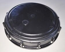 "275-330 Gn IBC Tote Tank 6"" Cover Lid Cap Schutz Mauser & Most Other BLACK"