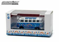 1:64 GreenLight *HOLLAND* Blue & White Volkswagen Bus *PROMOTIONAL* 50996B *NIB*
