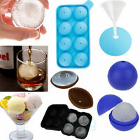 ICE Balls Maker Round Sphere Tray Mold Cube Whiskey Ball Cocktails Silicone New