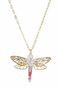 Swarovski Dragonfly Multi-Color One Size Pendant Necklace 5005852