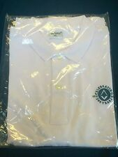OFFICIAL UGLE LICENSED TERCENTENARY XL WHITE POLO SHIRT - MASONIC