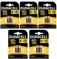 GENUINE 10X DURACELL N MN9100 1.5V ALKALINE BATTERY LR1 E90 AM5 SECURITY REMOTE