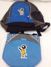 Atchison Bic Character Backpack Lunch Bag Blue Black 16x12 Polka Dots Lighter