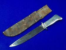 US WW2 Custom Hand Made Theater Aluminum Handle Fighting Knife w/ Sheath #144