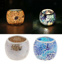 Wedding Mosaic Candle Holder Tea Light Bowl Candelabra Candlestick Bowl 2Pcs