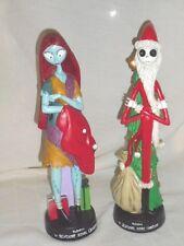 "Nightmare Before Christmas Santa Jack & Sally 12"" figurines statues new"