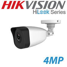 4MP HIKVISION HILOOK CCTV BULLET CAMERA IP POE FIXED LENS 2.8MM HD OUTDOOR WHITE