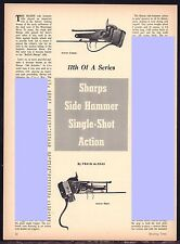 1962 SHARPS Side Hammer Single-Shot Action Article w/Exploded View & Parts List