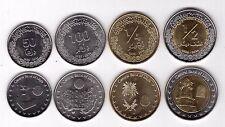 LIBYA - NEW ISSUE 4 DIF UNC COINS SET: 50 - 1/2 DINAR 2014 YEAR HOLOGRAM BIMETAL